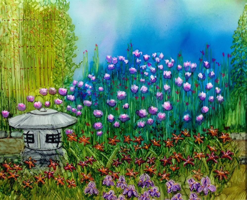 """""""Dad's Garden"""" original fine art by Korinne Carpino"""