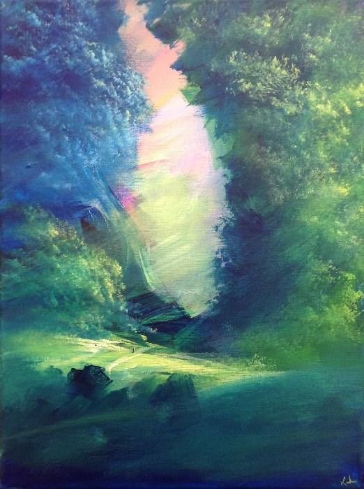 """The Long Way Home"" original fine art by David Kuhn"