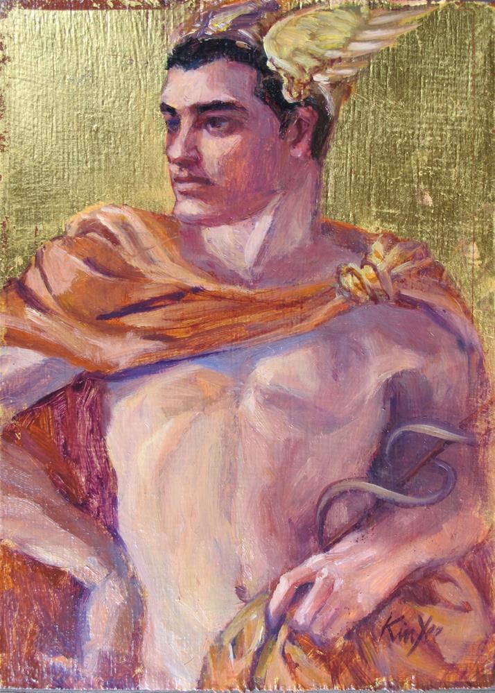 """""""Robert as Mercury"""" original fine art by Myriam Kin-Yee"""
