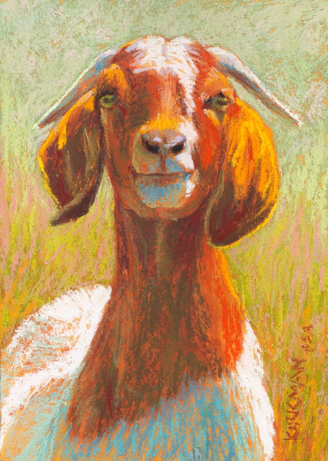 """Godfrey"" original fine art by Rita Kirkman"