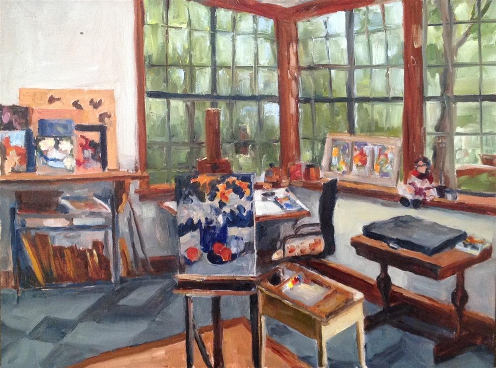 """My Studio"" original fine art by Alice O'Leary"