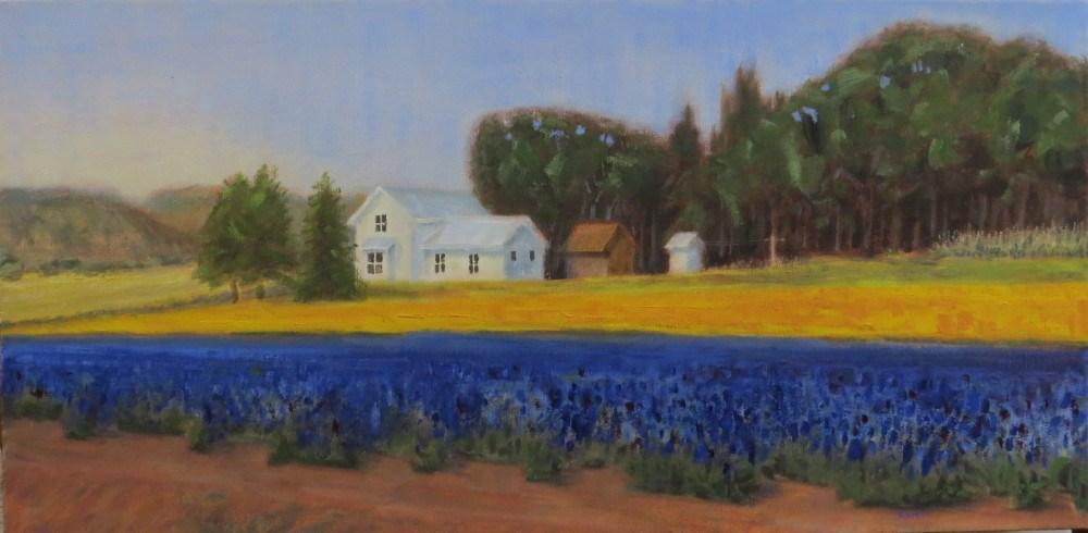 """""""Farm in Bloom"""" original fine art by Richard Kiehn"""