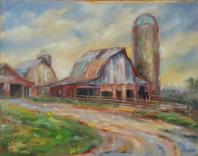 """Home on the Lambrich Farm"" original fine art by Tammie Dickerson"
