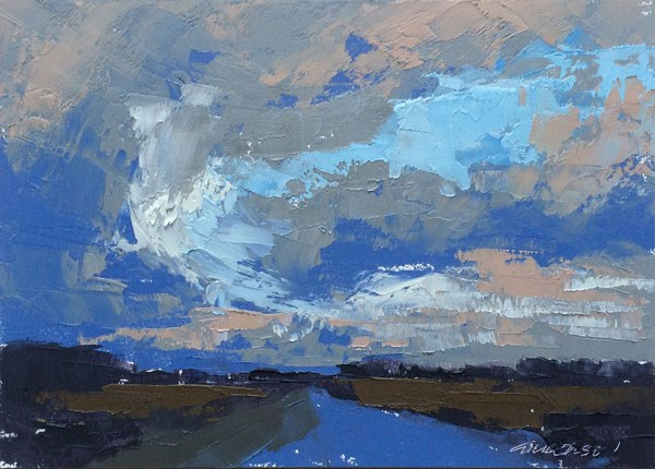"""Winter Rains"" original fine art by Mary Gilkerson"