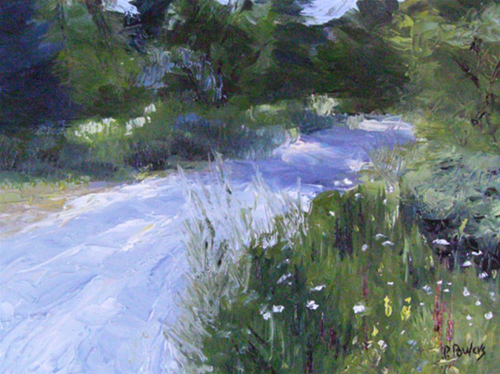 """Bucksport Side Road"" original fine art by Patricia J. Powers"