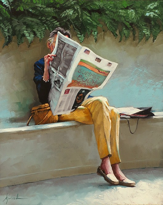 """Behind The News"" original fine art by Karin Jurick"