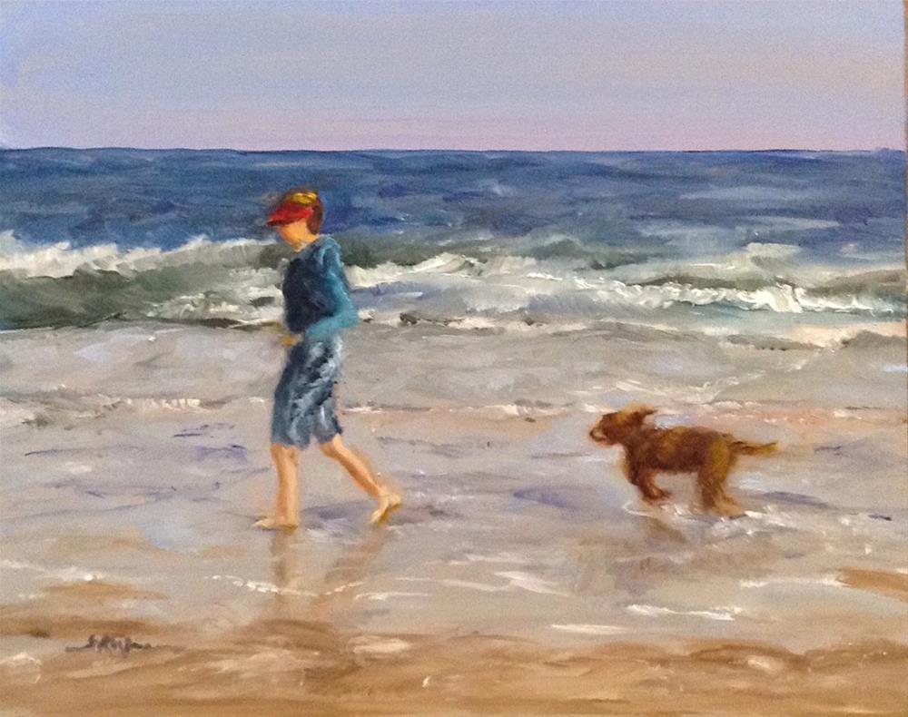"""""""Catching Up"""" original fine art by Shelley Koopmann"""