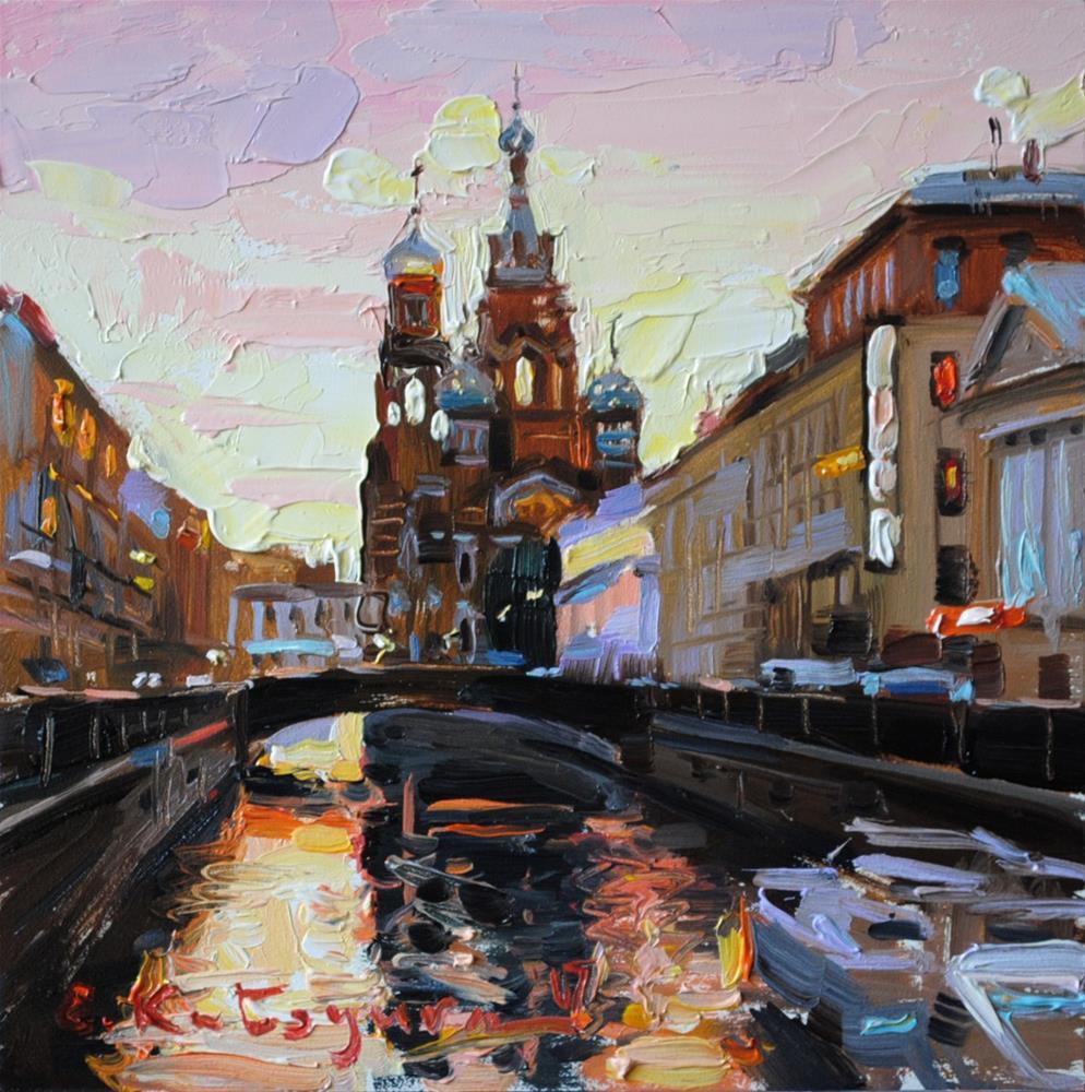 """Evening in St Petersburg"" original fine art by Elena Katsyura"