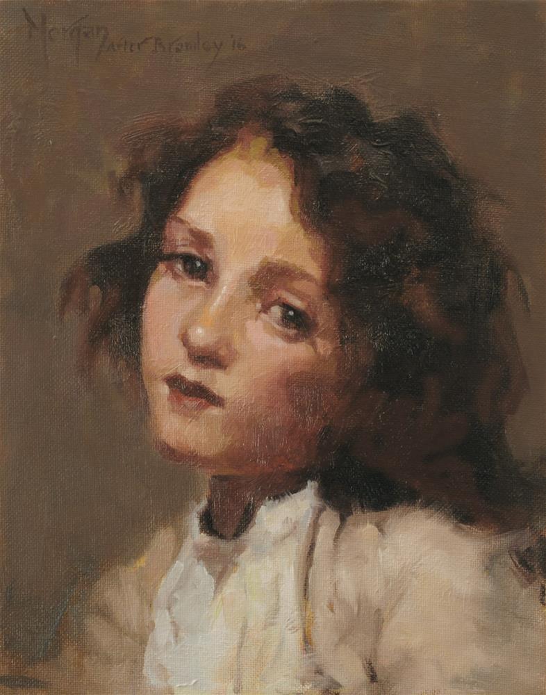 """""""Simplicita, after Frank Bramley"""" original fine art by Cecile W. Morgan"""
