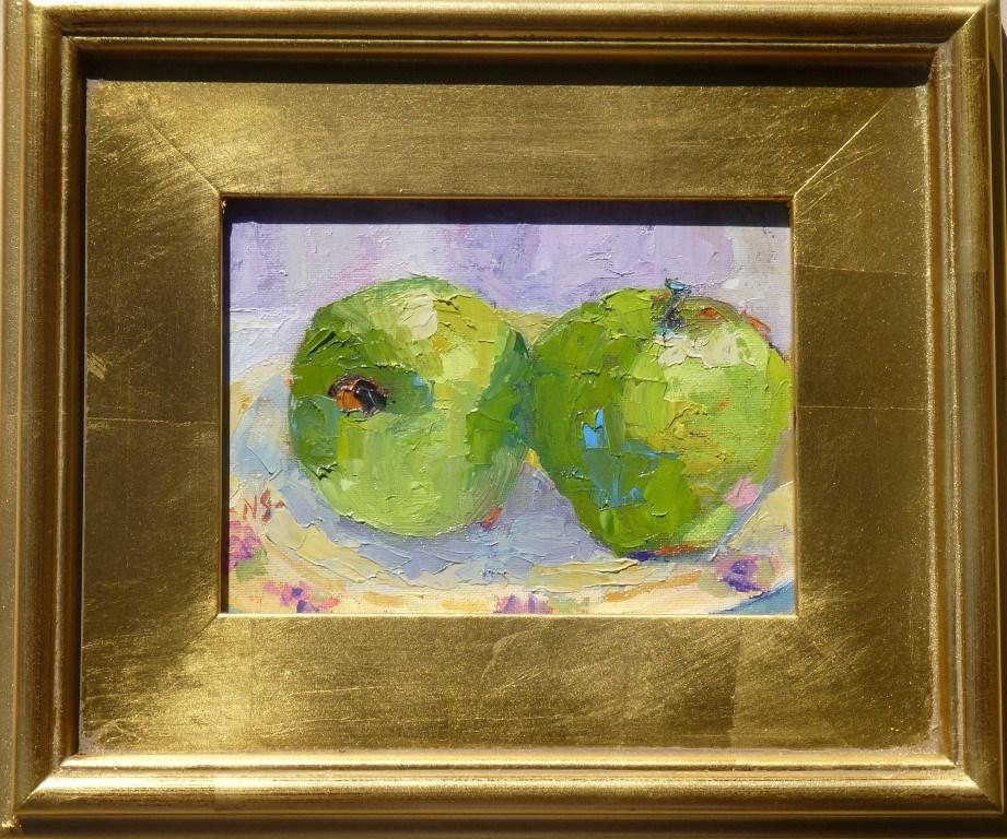 """Green Apple Sunday 13005 donated"" original fine art by Nancy Standlee"