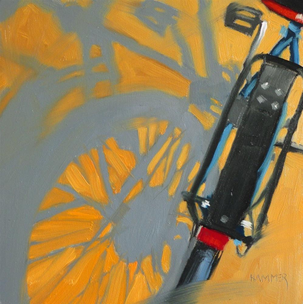 """Bicycle II  6x6 in    oil"" original fine art by Claudia Hammer"