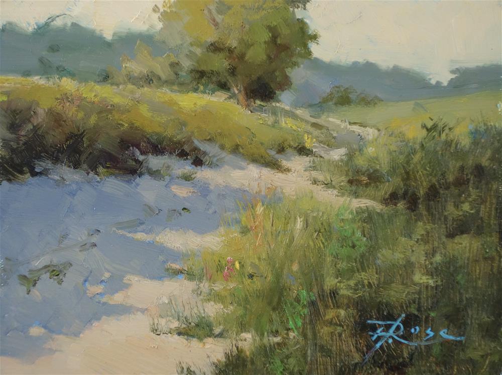 """Caumsett fields"" original fine art by Howard Rose"