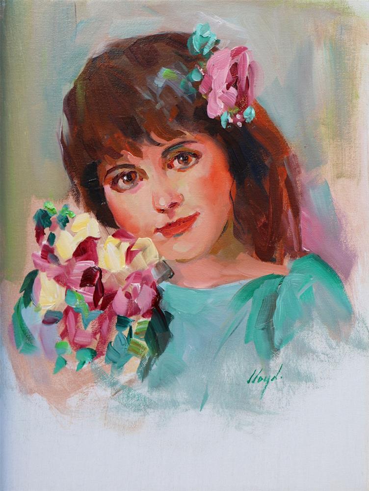 """Nancy"" original fine art by Diane Lloyd"