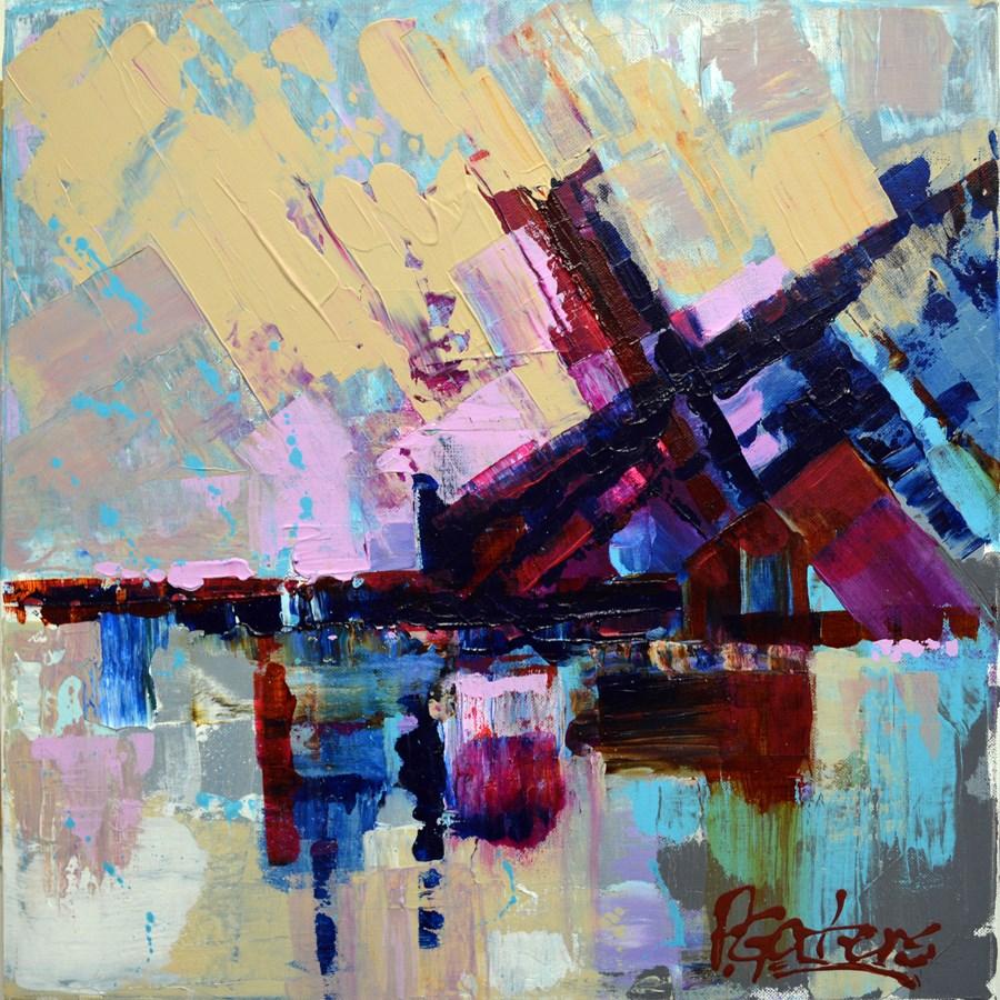 """Blueberry Boulevard"" original fine art by Pamela Gatens"
