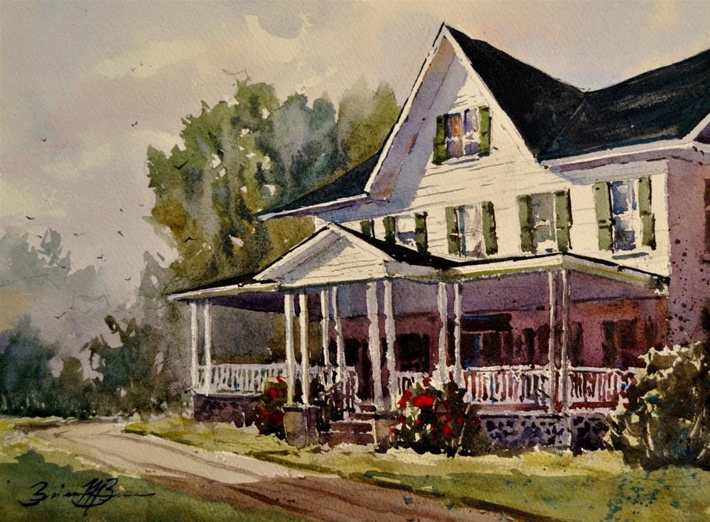 """""""Brierly Manor"""" original fine art by Brienne M Brown"""