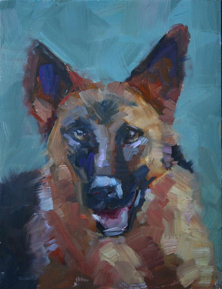 """German Shepherd"" original fine art by Carol Josefiak"
