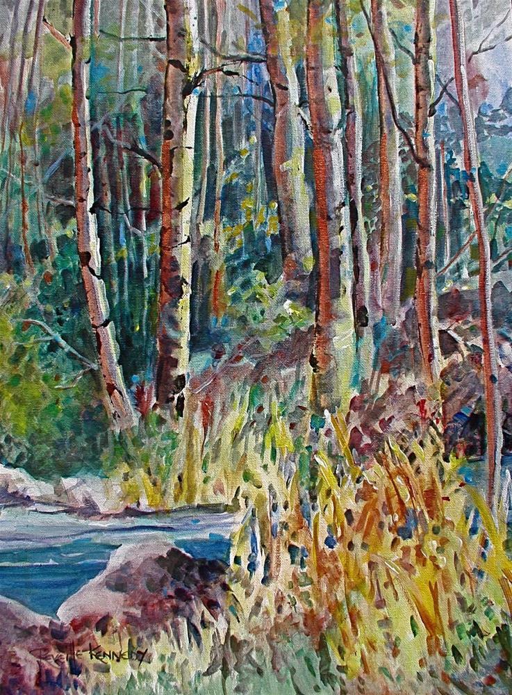 """September's Song maatted, framed"" original fine art by Reveille Kennedy"