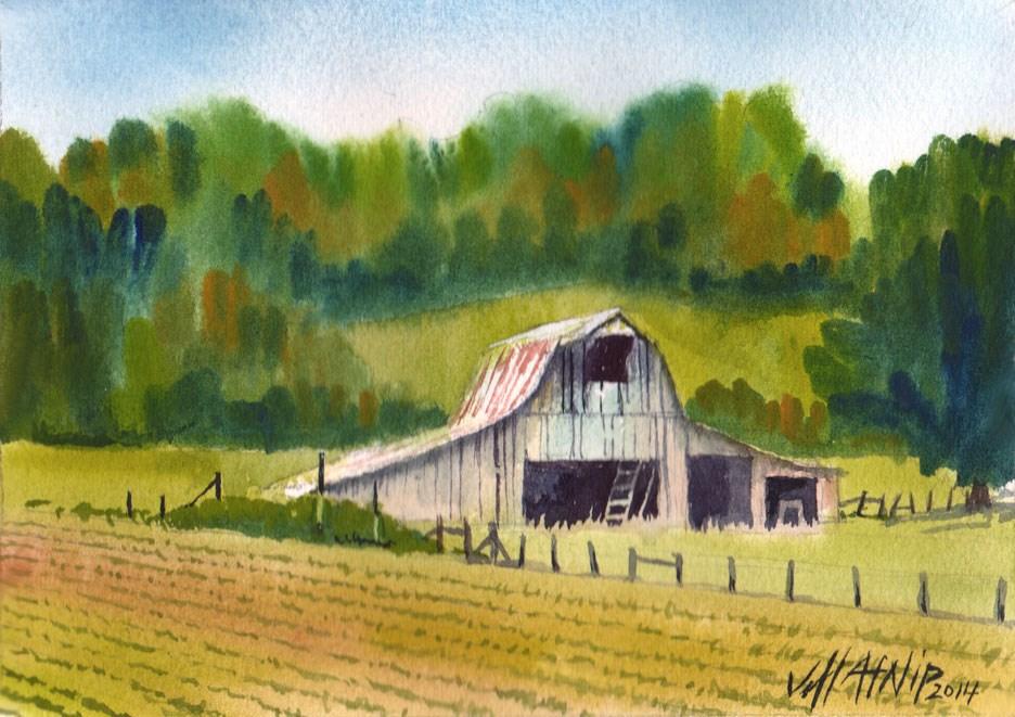 """Tennessee Barn"" original fine art by Jeff Atnip"