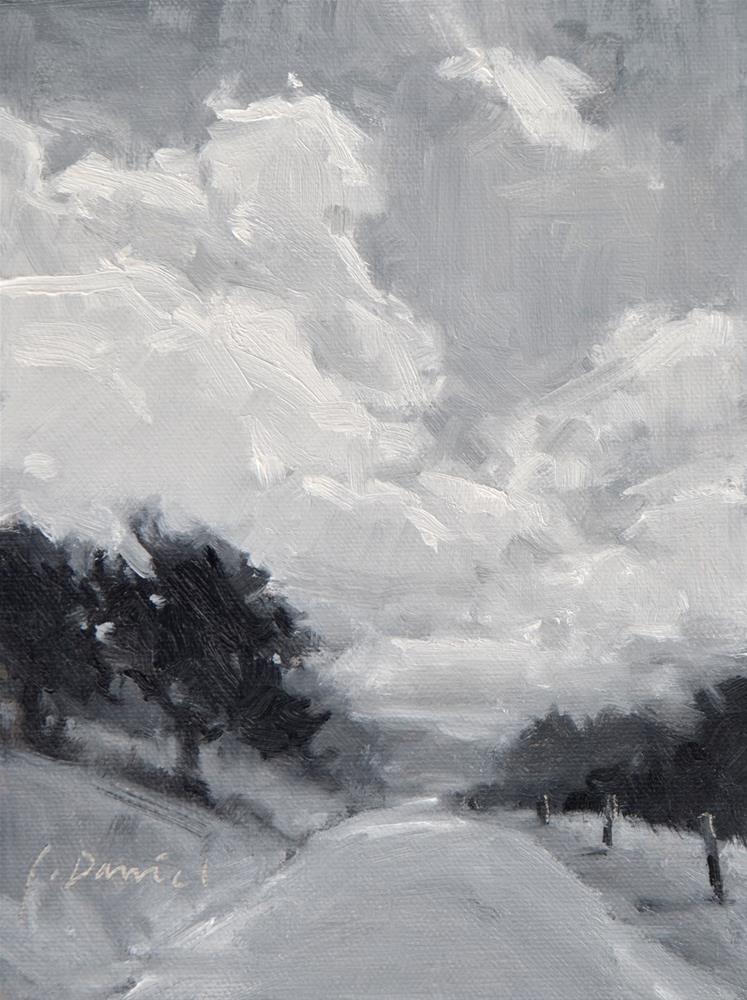 """Dusky Road Value Study"" original fine art by Laurel Daniel"