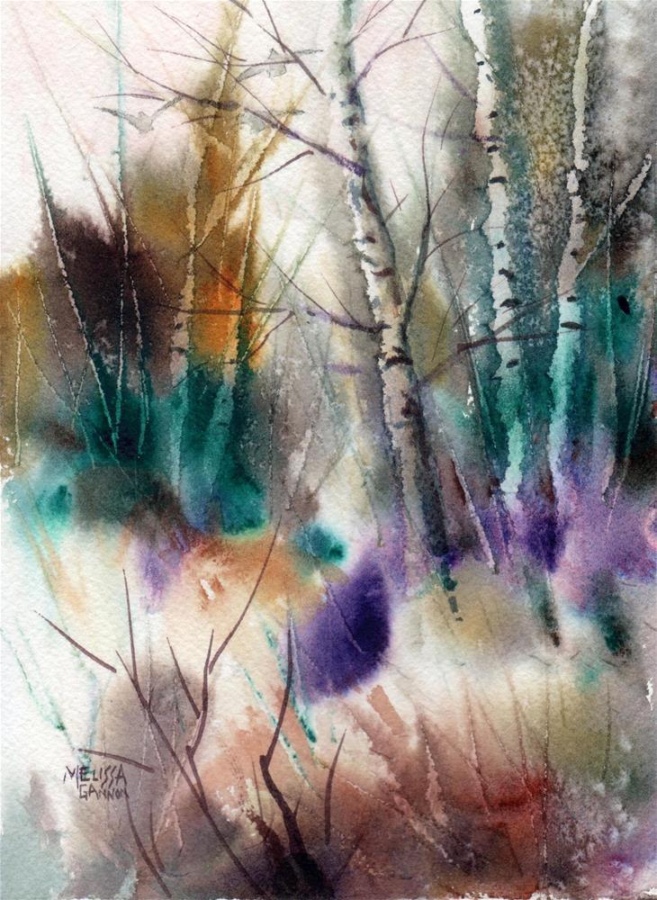 """Rich Colors of a Wintry Wood"" original fine art by Melissa Gannon"