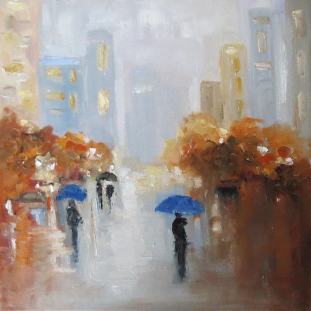 """""""September rain"""" original fine art by Astrid Buchhammer"""