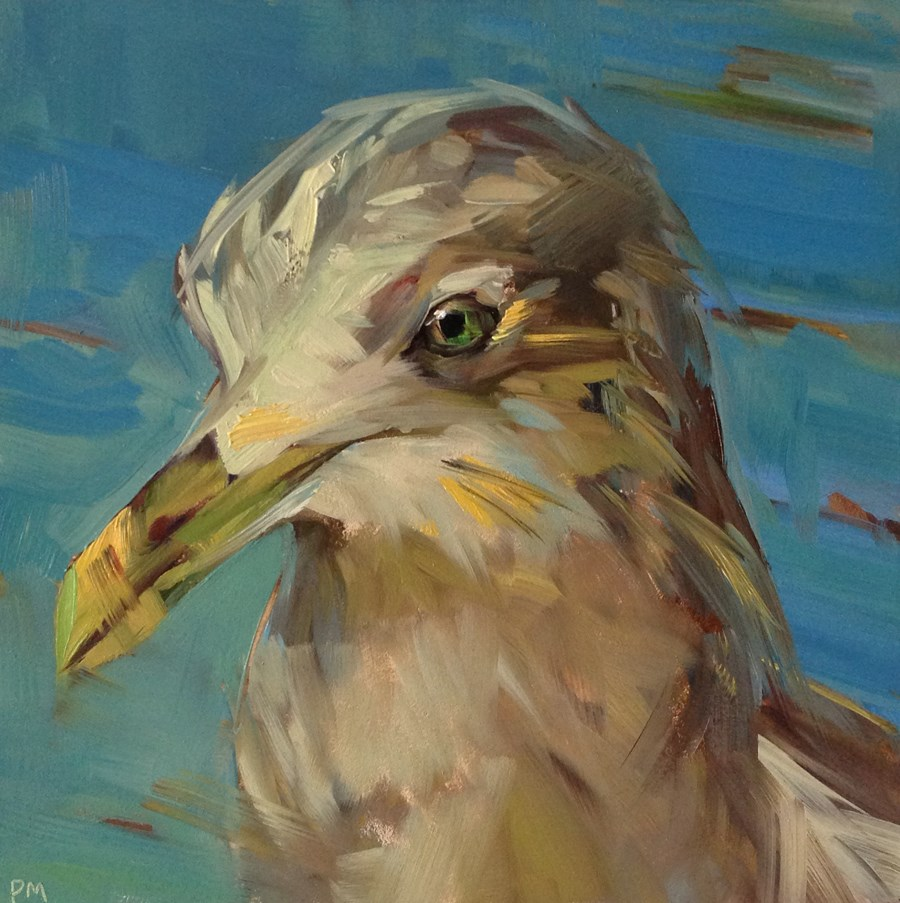 """George, The Un-Gullible Gull"" original fine art by Patti McNutt"