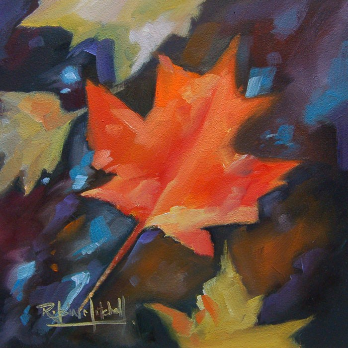"""""""No 566 Colours of Water"""" original fine art by Robin J Mitchell"""
