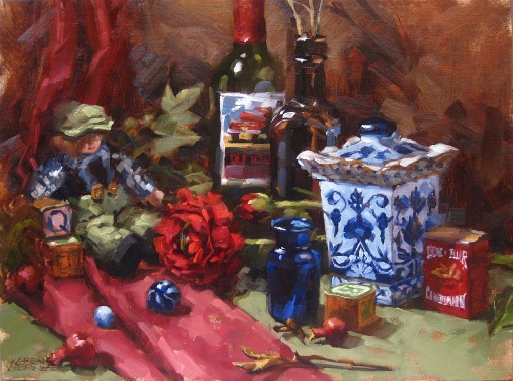 """Ginger Jar & Stuff"" original fine art by Karen Werner"