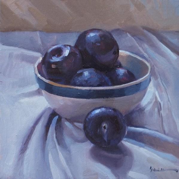 """""""Quiet Plums"""" original fine art by Sarah Sedwick"""