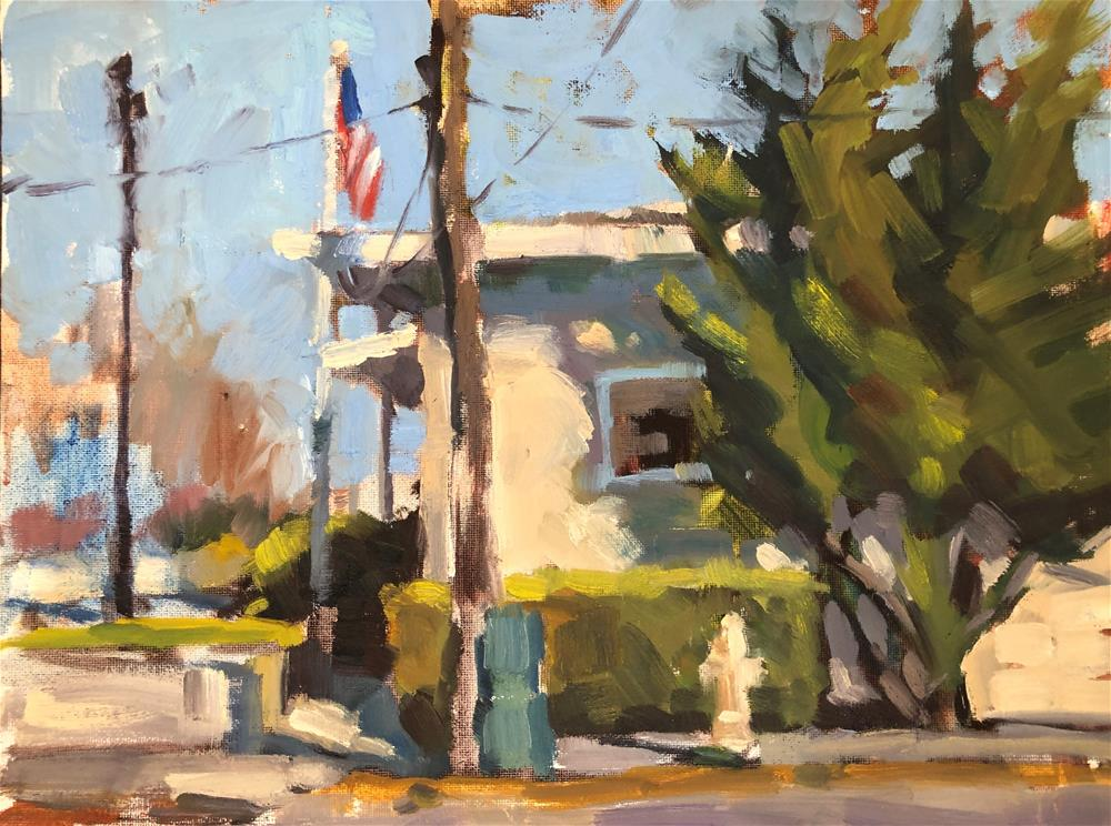 """The Post Office"" original fine art by Marla Baggetta"