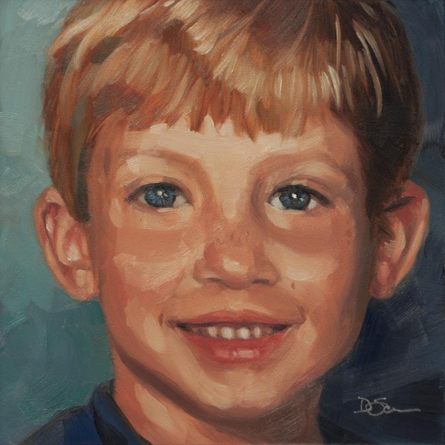 """""""Eyes of Love No.26 Victor"""" original fine art by Deborah Savo"""