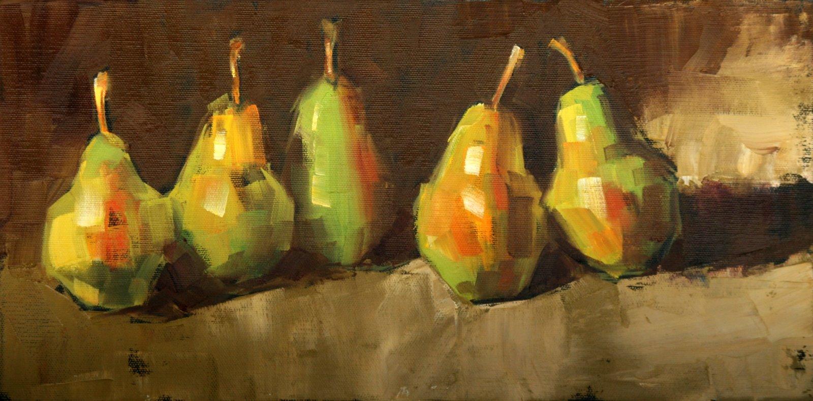 """the bartlett five II"" original fine art by Carol Carmichael"