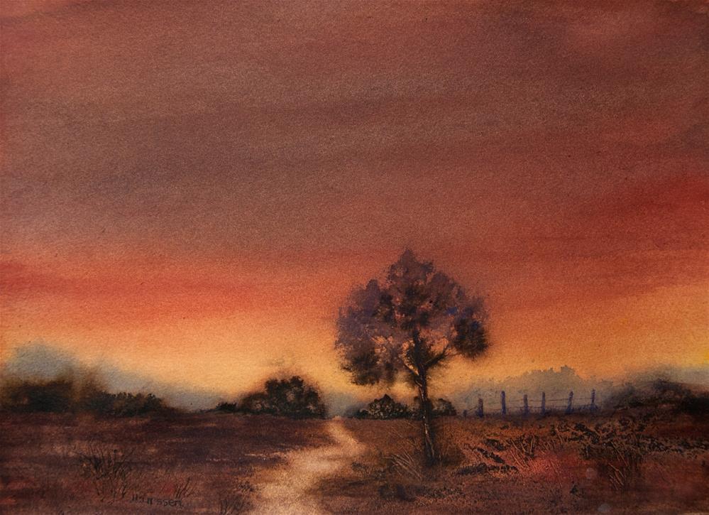 """""""Last Glow Of Sunset"""" original fine art by Jean Lurssen"""