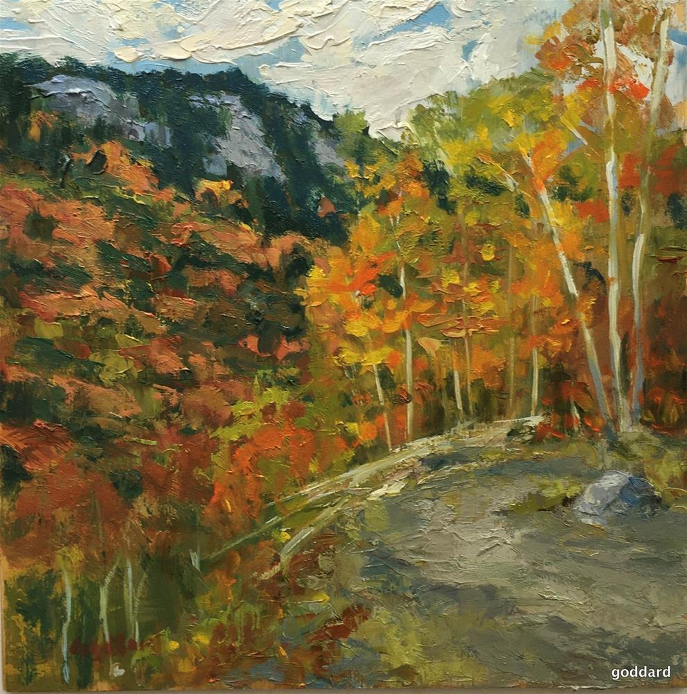"""Autumn Trail"" original fine art by Shari Goddard Shambaugh"