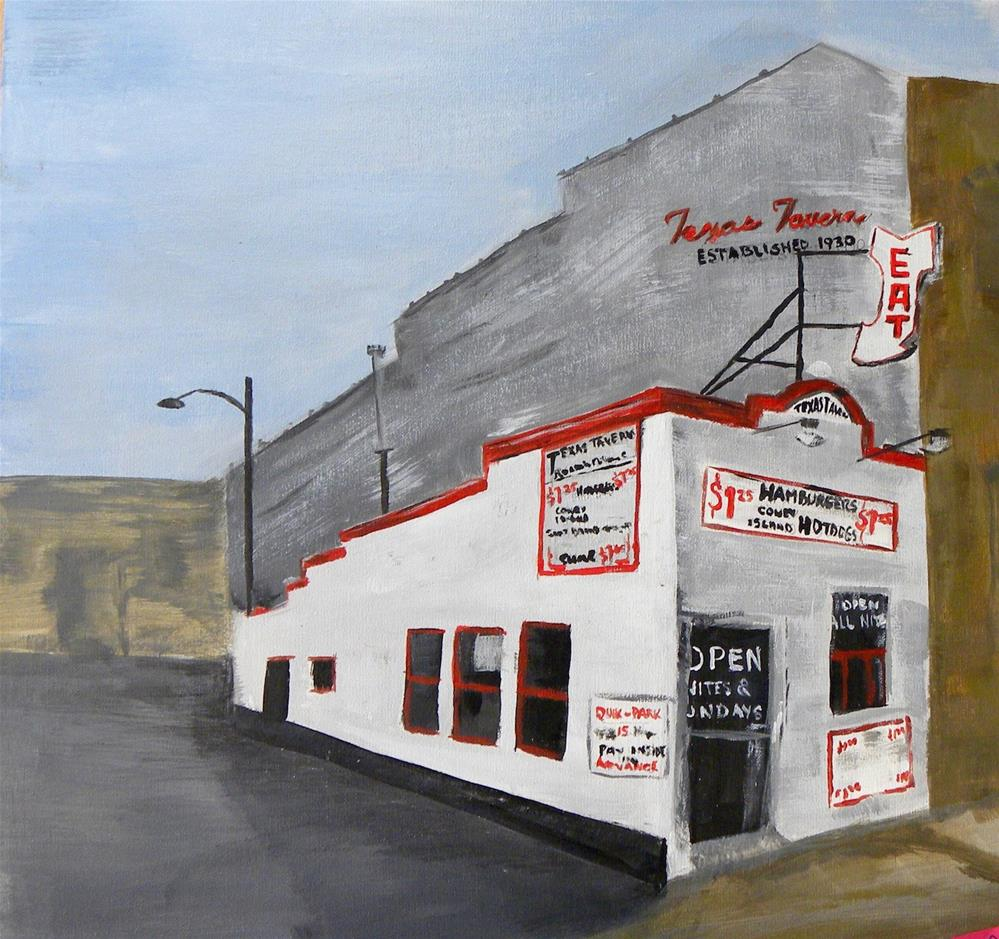 """Texas Tavern"" original fine art by cheryl buhrman"