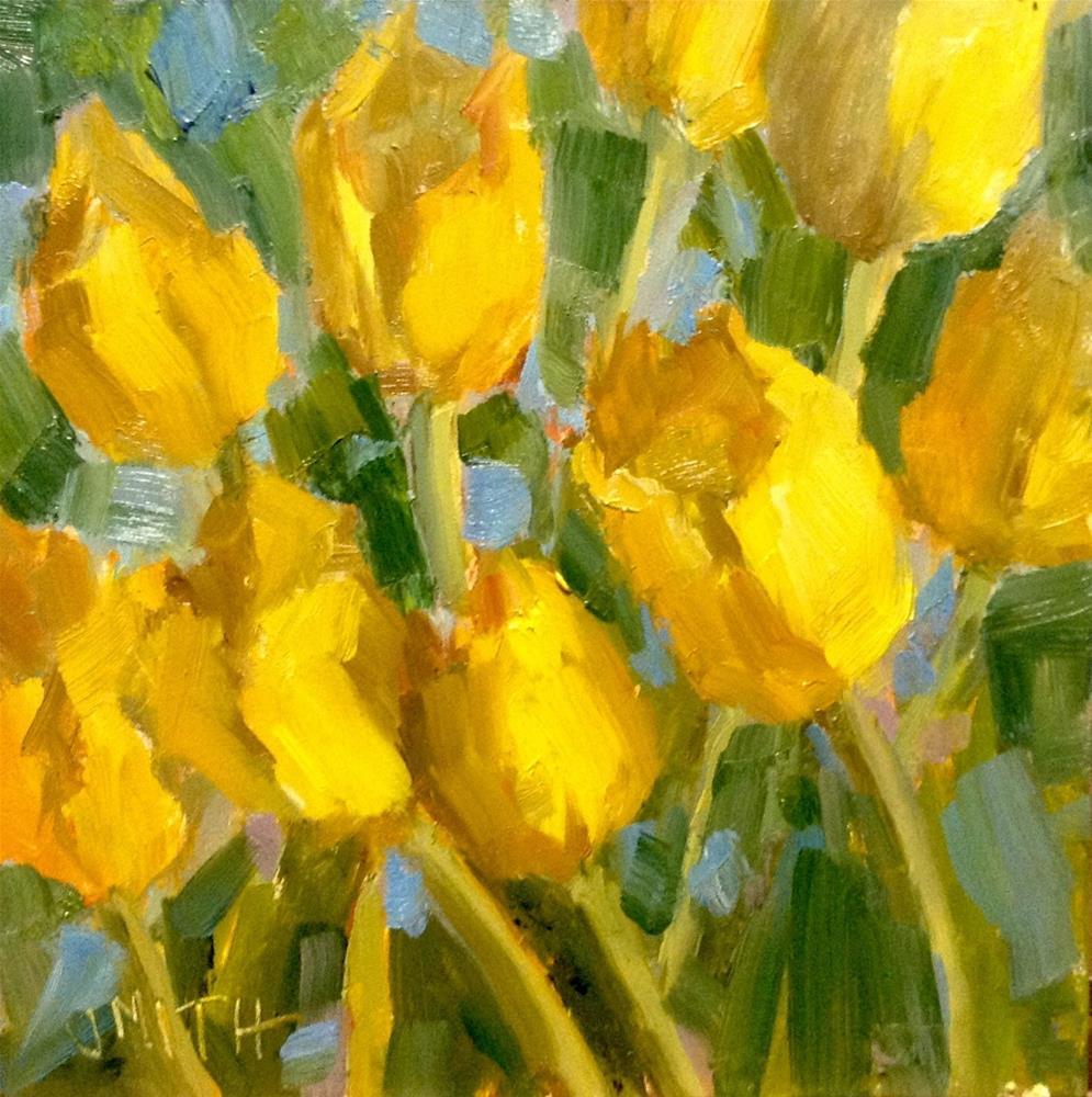 """""""Yellow Tulips"""" original fine art by Barbie Smith"""