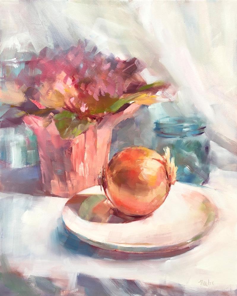 """""""Onion"""" original fine art by Barbara Benedetti Newton"""