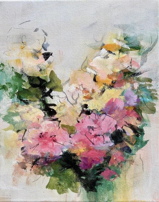 """""""Floral 9"""" original fine art by Karen Hale"""
