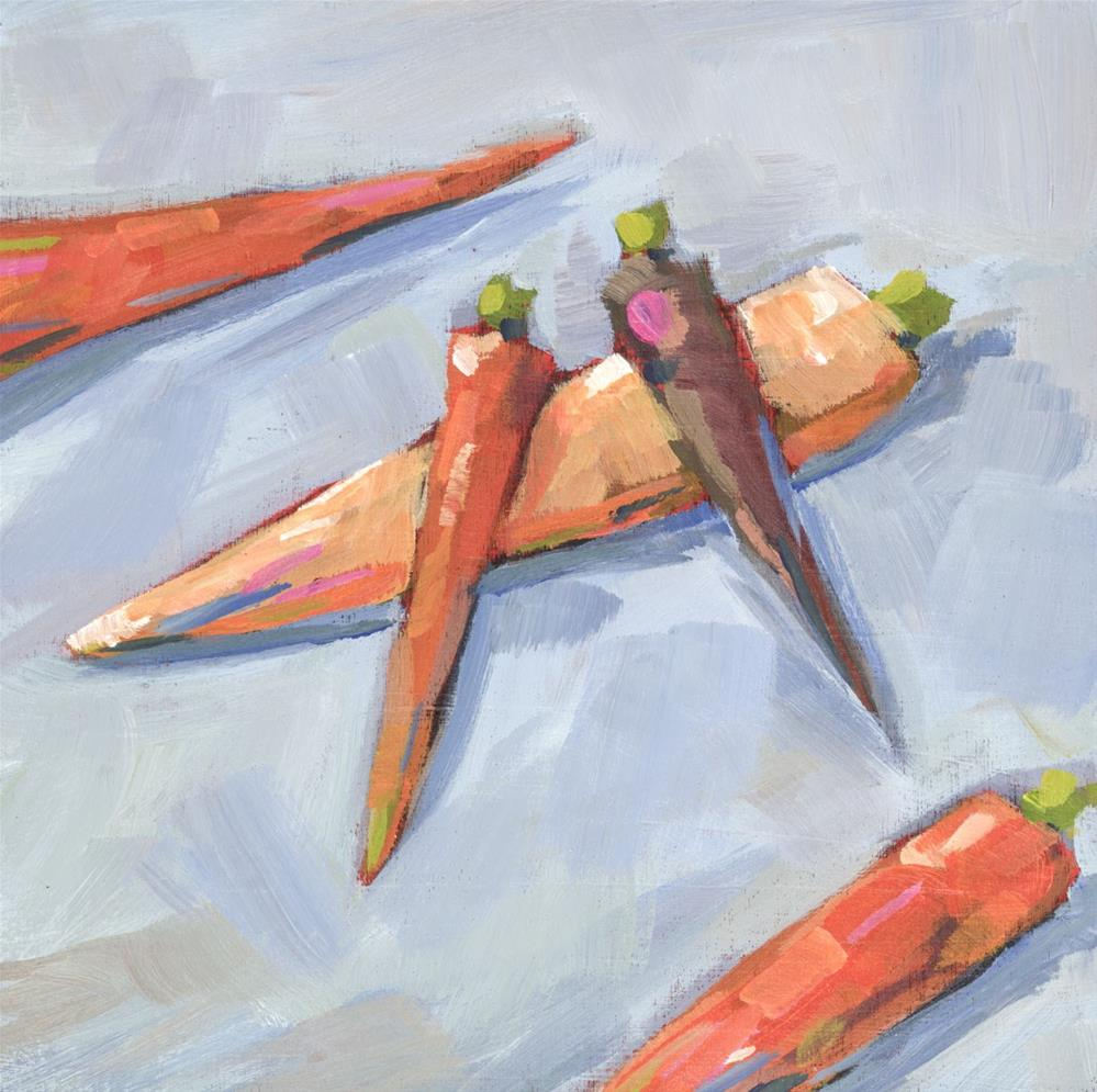 """0672: Five Carrots"" original fine art by Brian Miller"