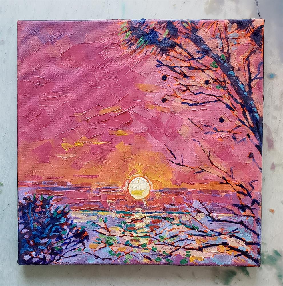 """Melting Sun"" original fine art by Bhavna Misra"