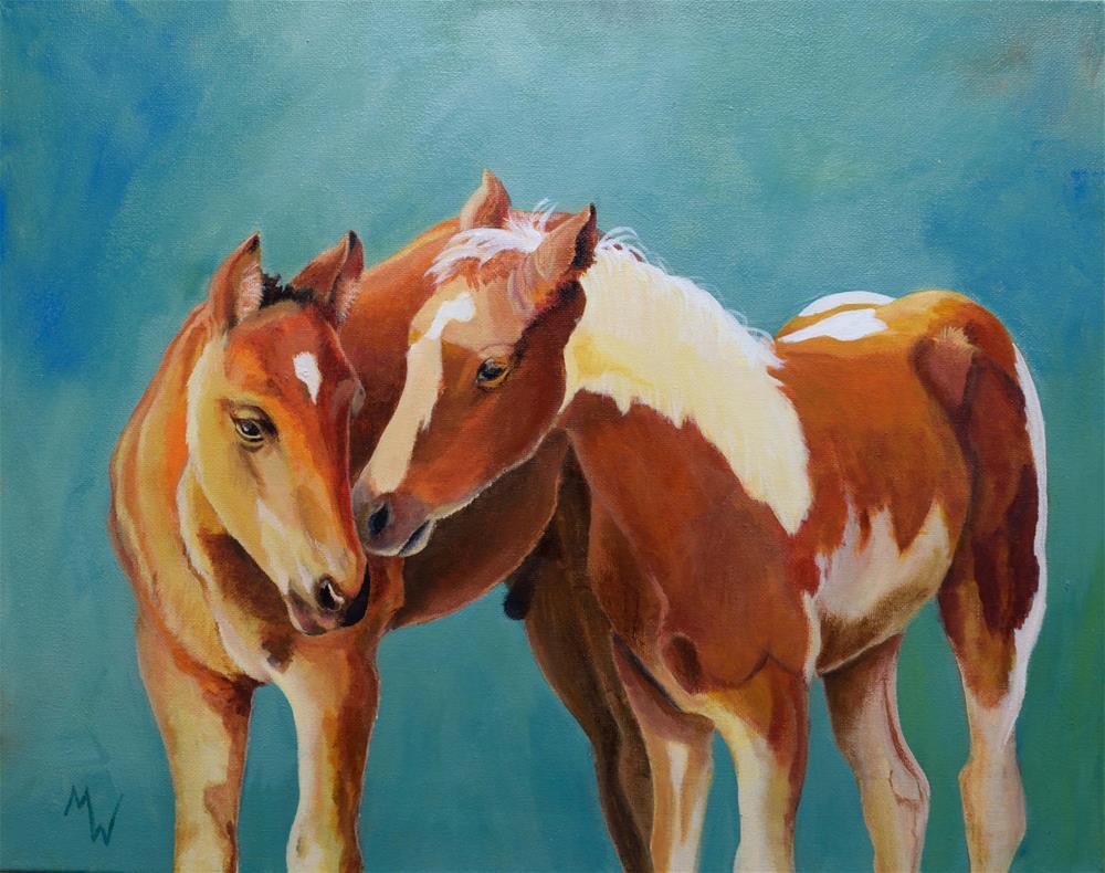 """Double Fun"" original fine art by Michelle Wolfe"