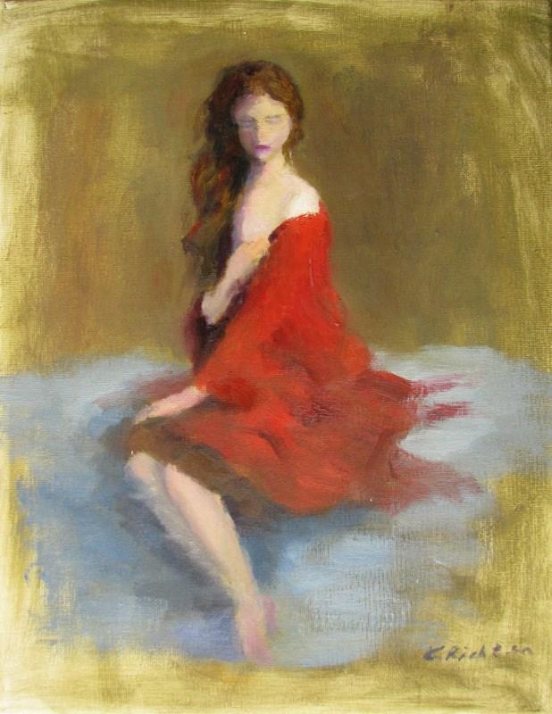 """""""In Crimson"""" original fine art by Keiko Richter"""