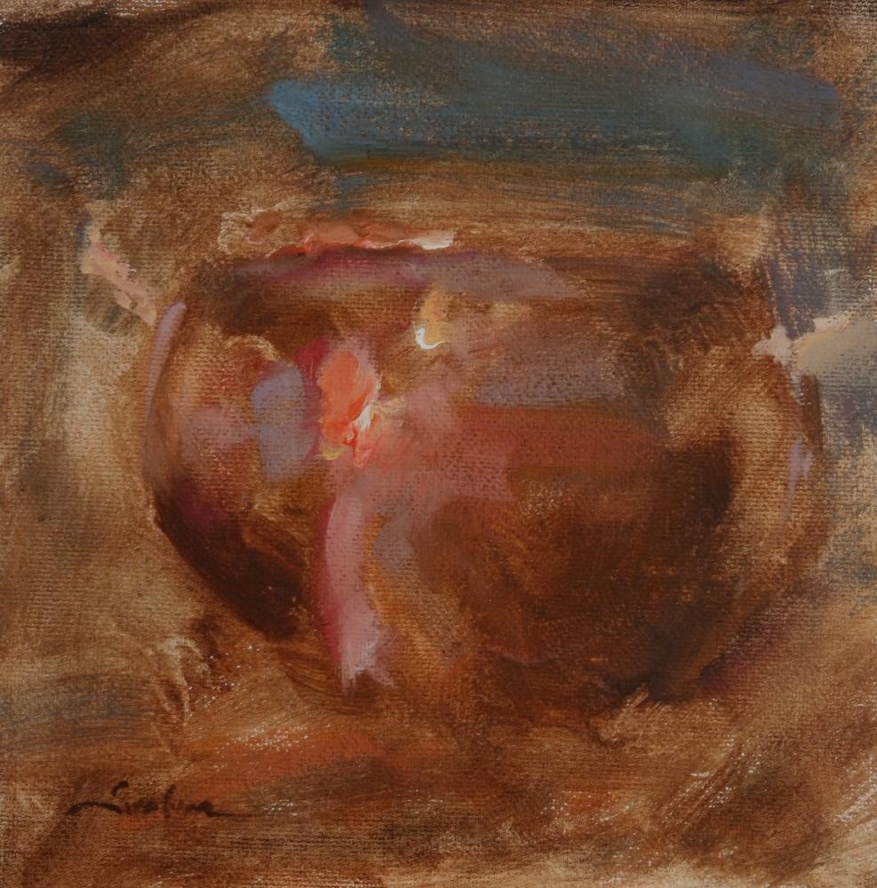 """""""Red Light Copper"""" original fine art by Scott Serafica"""
