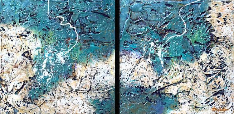 """Indirect 1,2"" original fine art by Nancy Eckels"