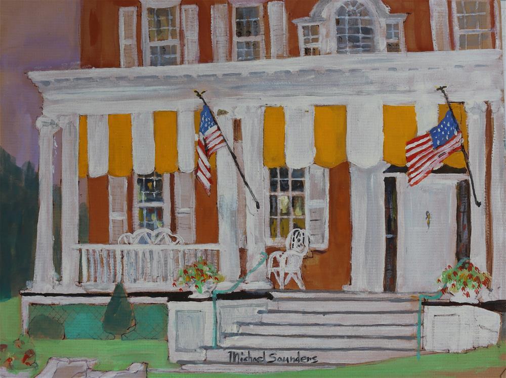 """""""Front Porch --Vermont"""" original fine art by Michael Saunders"""