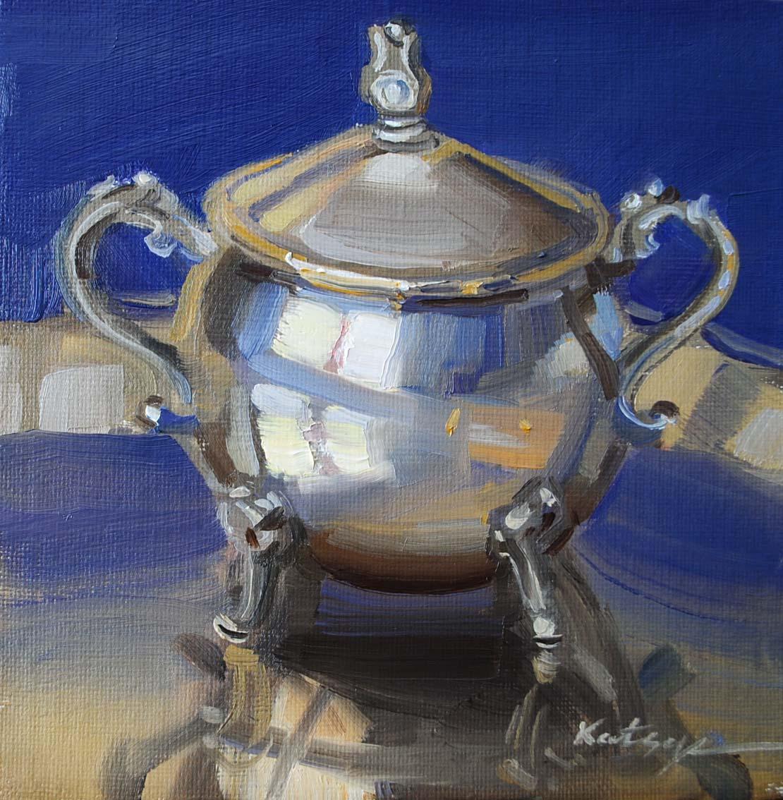 """Sugar Bowl"" original fine art by Elena Katsyura"