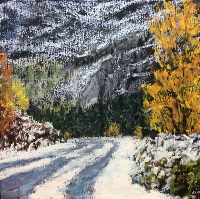 """""""EARLY SNOWFALL"""" original fine art by Marti Walker"""