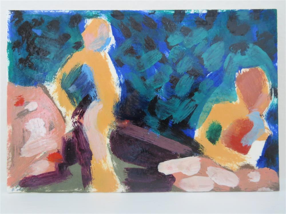 """In the Garden # 18"" original fine art by Pamela Hoffmeister"