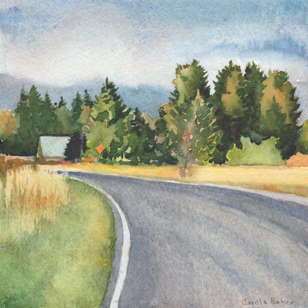 """""""Dock Road"""" original fine art by Carole Baker"""