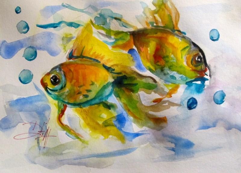 """Fish"" original fine art by Delilah Smith"